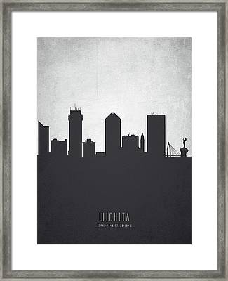 Wichita Kansas Cityscape 19 Framed Print