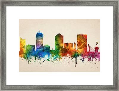 Wichita Kansas Skyline 05 Framed Print