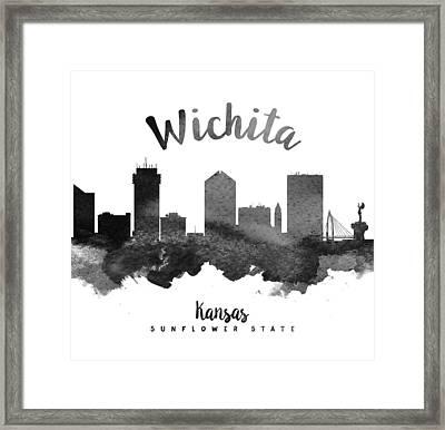 Wichita Kansas Skyline 18 Framed Print