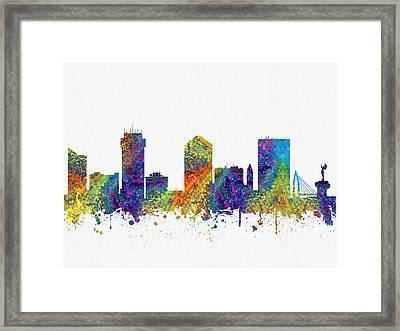 Wichita Kansas Skyline Color03 Framed Print