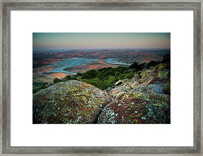 Wichita Mountains In Lawton Framed Print by Iris Greenwell