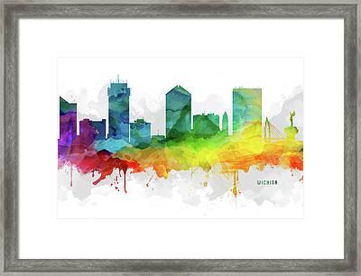 Wichita Skyline Mmr-uskswi05 Framed Print