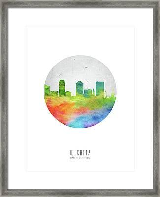 Wichita Skyline Uskswi20 Framed Print