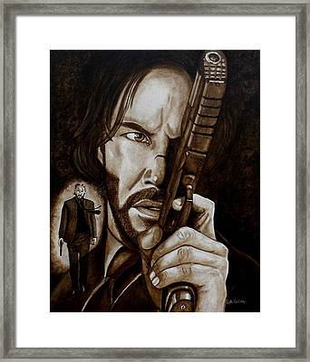 Framed Print featuring the painting Wick Is Back by Al  Molina