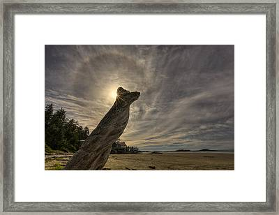 Wickaninnish Beach Sun Halo Framed Print