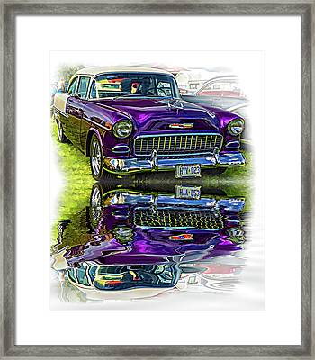Wicked 1955 Chevy - Reflection Framed Print by Steve Harrington