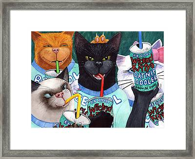 Wicked Kitty's Catnip Cooler Framed Print by Catherine G McElroy