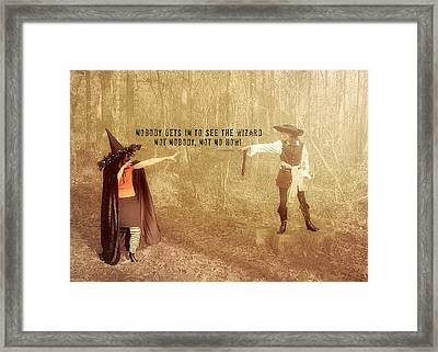 Wicked Quote Framed Print by JAMART Photography