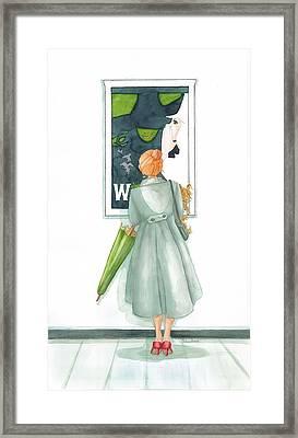 Wicked Ruby Red  Framed Print by Belinda Hamilton