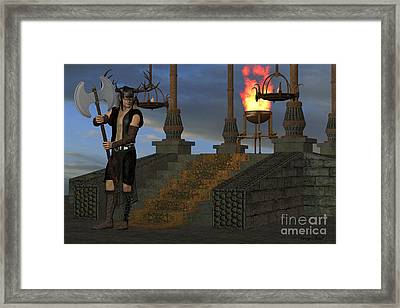 Wicked Shrine Framed Print by Corey Ford