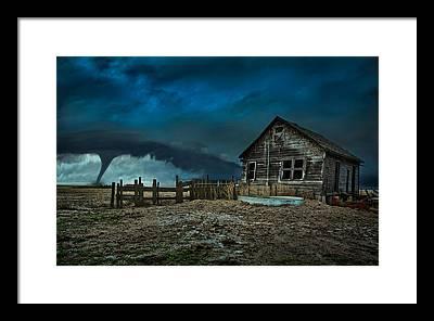 Storm Clouds Framed Prints