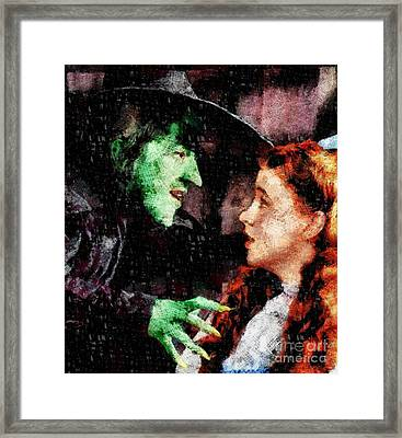 Wicked Witch And Dorothy, Wizard Of Oz Framed Print by John Springfield