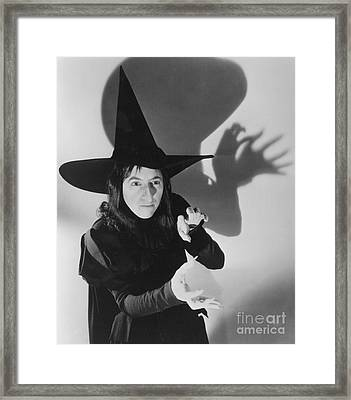 Wicked Witch Of The West Framed Print by Granger