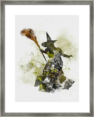 Wicked Witch Of The West Framed Print by Rebecca Jenkins