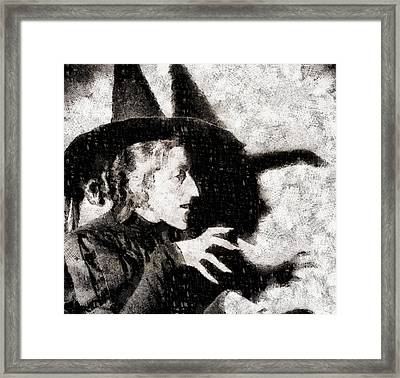 Wicked Witch, Wizard Of Oz Framed Print by John Springfield
