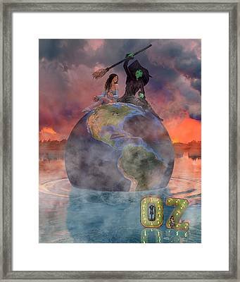 Wickedful Oz Framed Print by Betsy Knapp