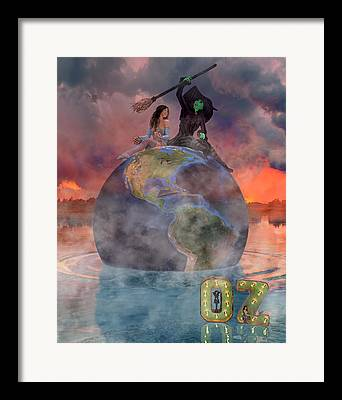 Mystic Setting Digital Art Framed Prints