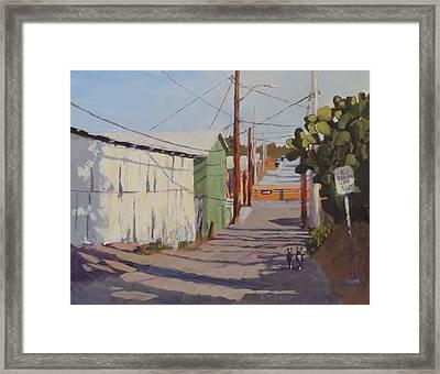 Wickenburg Alley Cats Framed Print