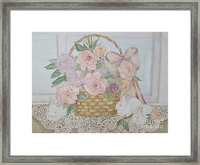 Wicker And Old Lace Framed Print