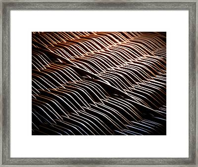 Wicker Basket In The Dark Framed Print by Jozef Jankola