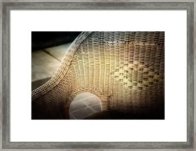 Wicker Chair Framed Print