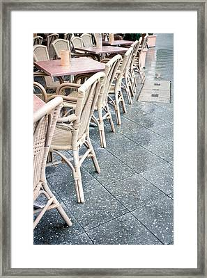 Wicker Chairs Framed Print by Tom Gowanlock