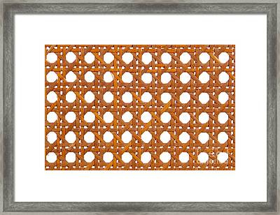 Wicker Framed Print