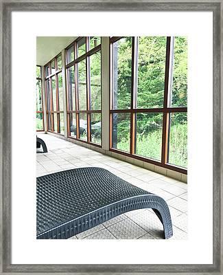 Wicker Spa Loungers Framed Print