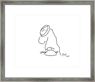 Wicker Woman Framed Print by Ross Powell
