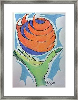 Wicket Fireball Framed Print by Loretta Nash
