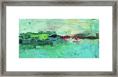 Wide Abstract I Framed Print