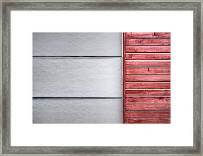 Wide And Narrow Lines Framed Print by Scott Norris