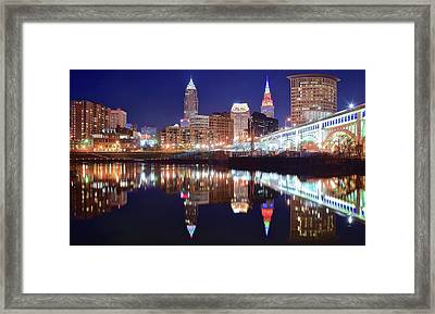 Wide Angle River Reflection Framed Print by Frozen in Time Fine Art Photography