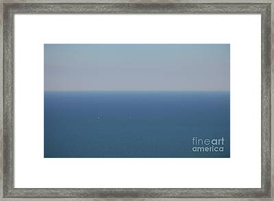 Wide Blue Sea Framed Print by Holger Ostwald
