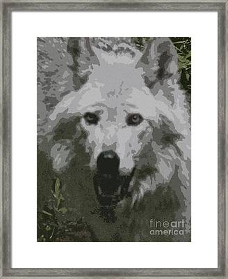 Framed Print featuring the painting Wide Eyes Vision by Debra     Vatalaro