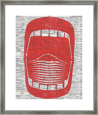 Wide Open Mouth Framed Print