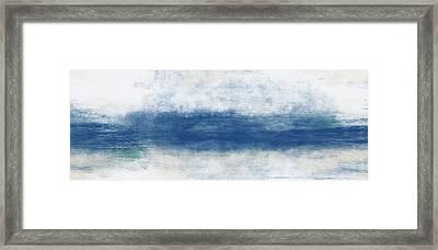 Wide Open Ocean- Art By Linda Woods Framed Print