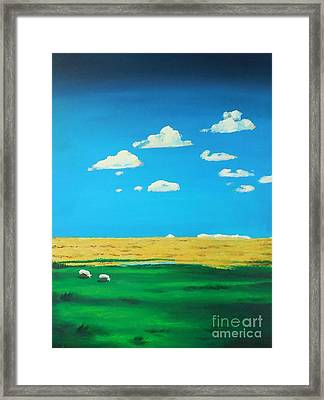 Wide Open Spaces And A Big Blue Sky Framed Print