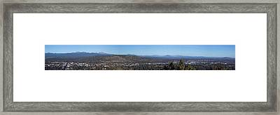 Wide Panorama Of Bend Oregon Framed Print by Twenty Two North Photography