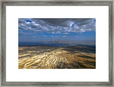 Wide View From Masada Framed Print