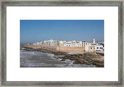Wide View Of The Old Part Of Essaouira Framed Print by Panoramic Images