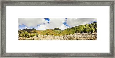 Wide West Coast Of Tasmania Framed Print