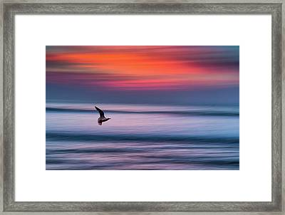 Widemouth Impressionist 3, Bude, Cornwall. Uk Framed Print by Maggie McCall
