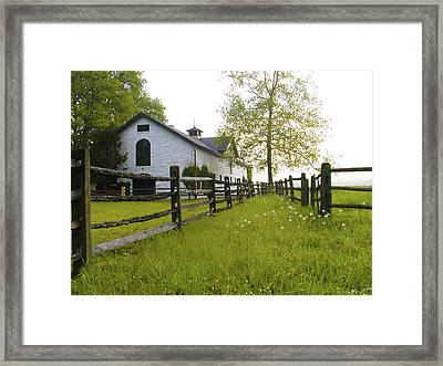 Widener Farms Horse Stable Framed Print by Bill Cannon
