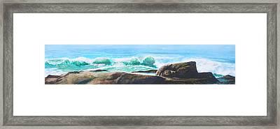 Widescreen Wave Framed Print by Ken Meyer