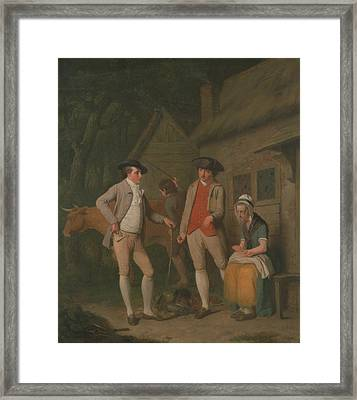 Widow Costard's Cow And Goods, Distrained For Taxes Framed Print by Edward Penny