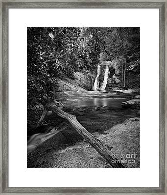 Widows Creek Falls 1 Bw Framed Print by Patrick M Lynch