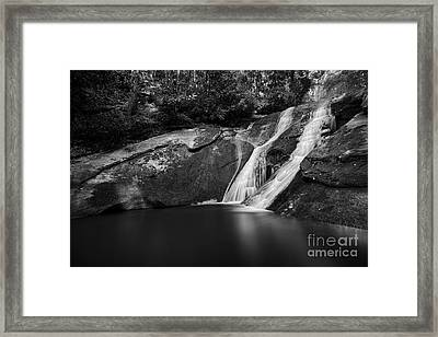 Widows Creek Falls 2 Bw Framed Print by Patrick M Lynch