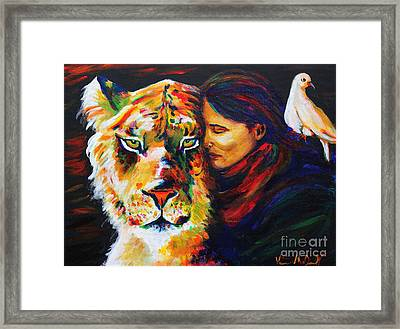Wife Of Noah Framed Print by Veronica McDonald
