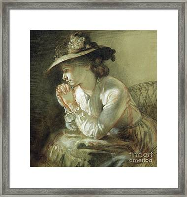 Wife Of The Artist, 1903 Framed Print by William Orpen